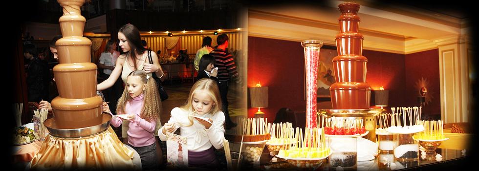 Fontanna czekoladowa zaskoczy najmłodszych gości